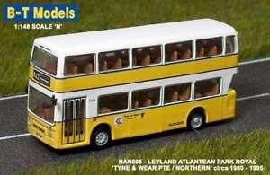B-T MODELS NAN005 1:148 N GAUGE LEYLAND ATLANTEAN TYNE & WEAR TRANSPORT MODEL