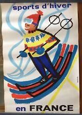 Affiche Sports d'hiver en France, signée Constantin, vers 1959, format 40 x 60