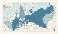 Poster – Expansion Map of Prussia from 1968 to 1924 (Cartography Replica Art)