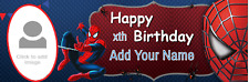 Personalised Birthday Party Banners Customised Spiderman Superman Batman Banners
