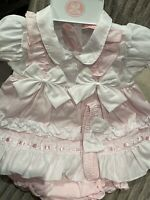 Baby Girls Satin Party Dress Pink Lilac White Christening Satin Bonnet 6-36 Mths