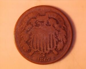 1867 TWO CENT PIECE  <> 226-1