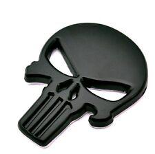 THE Punisher Skull Badge Skeleton Car Motorcycle FOR  Black BODY Emblem