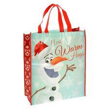 Giant Reusable Shopper Christmas Gift Bag - Disney Frozen Olaf I Love Warm Hugs