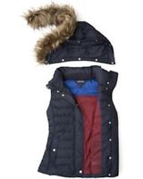 Tommy Hilfiger Women's waistcoats VALENTINA VEST DOWN XL with a hood
