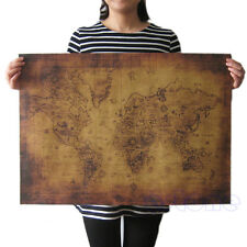 71x51cm Large Retro Vintage Globe Old World Map Paper Poster Paper Wall Decor