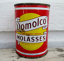 1950's Domolco Molasses TIN CAN  DOMINION DISTRIBUTORS (CANADA) LTD HALIFAX N S