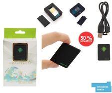 GPS GSM LOCALIZZATORE SATELLITARE ANTIFURTO TRACKER ASCOLTO VOCALE SOS MINI A8