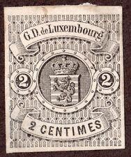 Luxembourg  5 2c Black Hinged Unused Imperf 1860