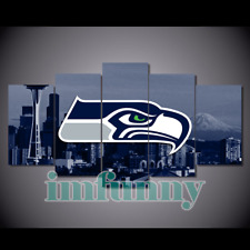 5Pcs SEATTLE SEAHAWKS City Canvas Picture Print Painting Wall Art Fan Home Decor