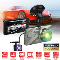Dual Lens 4'' 1080P HD Car DVR Dash Cam Front and Rear Camera Video Recorder AU