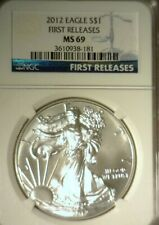 2012  SILVER  AMERICAN EAGLE  NGC MS-69   GREAT LOOKING COIN!!