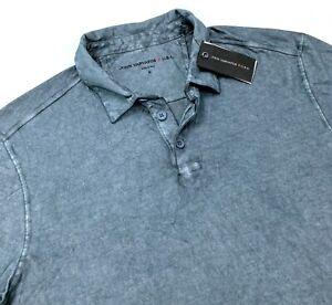 John Varvatos Star USA Short Sleeve Mens Gunpowder Wash Polo Shirt Size S