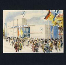 IAA FRANKFURT 1957 MERCEDES-BENZ-HALLE Autos Cars * Künstler-AK PC Artist LISKA