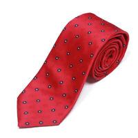 CHARLES TYRWHITT Red Navy Blue Florette Floral Men's Silk Neck Tie