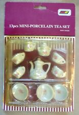 Vintage poupée accessoire-Li-LO cardées & Inutilisé 13pcs Porcelaine Mini Tea Set