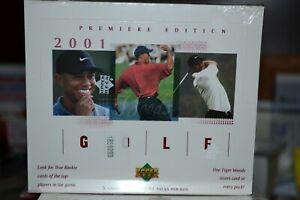 2001 Upper Deck Golf Factory Sealed Box 24pk 5 cd per -- Tiger Woods Rookie!
