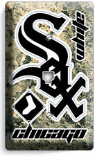 CHICAGO WHITE SOX BASEBALL TEAM PHONE JACK TELEPHONE WALL PLATE COVER HOME DECOR