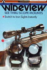 WIDEVIEW SEE THRU SCOPE MOUNT MODERN MUZZLELOADER KNIGHT MODELS  LISTED