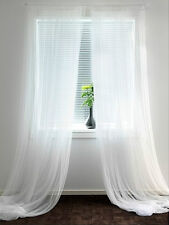 "IKEA lace curtains 2 panels white mesh net gauzy 98""x110"" wedding party drapes"