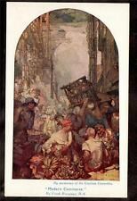 c.1920 Gresham art by Frank Brangwyn Modern Commerce UK postcard