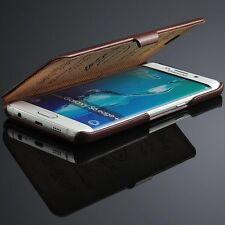 Samsung Galaxy S6 Edge Flip Farbe Pink Echte Leder Luxus Schutzhülle,Tasche