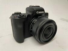 Canon EOS M50 Mark II 24.1MP Mirrorless Camera - Black (15-45mm Stabilizer Lens)