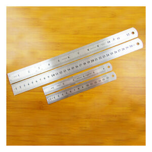 6 Inch / 15cm or 12 Inch / 30cm ENGRAVED STAINLESS STEEL RULERS IMPERIAL METRIC