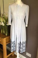 ⭐️Debenhams Studio by Preen Blue Stripe Broderie Cotton Tea Dress  Size 10