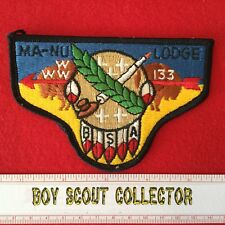 Boy Scout OA Ma-Nu Lodge 133 Order Of The Arrow Pocket Flap Patch WWW