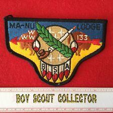 Boy Scout OA Ma-Nu Lodge 133 Order Of The Arrow Pocket Flap Patch WWW