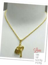 GoldNMore: 18K Gold Necklace and Pendant 18 inches
