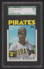 1986 TOPPS TRADED #11T BARRY BONDS — XRC — SGC 96 / 9