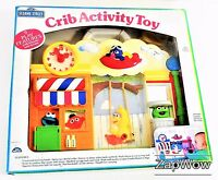 SESAME STREET 1990s Crib Cot Activity Toy Cookie Monster Oscar Sounds Action