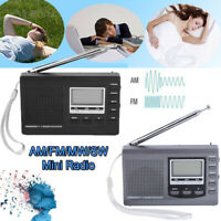 Mini Portable FM/MW/SW Radio Digital Alarm Clock Full Band Stereo Radio Receiver