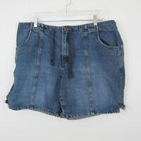 Venezia Lane Bryant Womens Denim Blue Jean Shorts Casual Summer Size 14