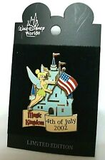 Magic Kingdom - 4th of July Tinker Bell Le Castle Tink flag Pin American