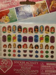 Disney Princess Nail Stickers Decal - Little Mermaid, Cinderella