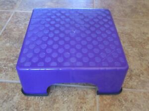 The FIRM Fanny Lifter TOP SMALL PURPLE Aerobic Step Stepper wAll 4 RUBBER FEET