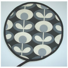 Aga Range Hotplate Hob Hat Lid Mat Cover Pad Orla Kiely Oval Flower Cool Grey