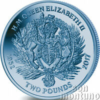 2017 Queen Elizabeth II Sapphire Jubilee: Royal Crest TITANIUM Coin in Capsule