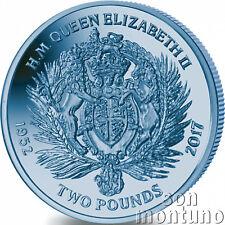2017 Queen Elizabeth II Sapphire Jubilee: Royal Crest TITANIUM Coin in BOX+COA