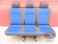 VW T5 Sitzbank Blau anthrazit Sitz Sitze 3er SATZ SICHERHEITSGURT 3. Sitzreihe