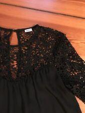 schöne Bluse/Oberteil mit Spitze, Gr. S, Pimkie, schwarz, sehr guter Zustand