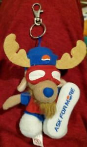 """5"""" Pepsi Antlers Reindeer Stuffed Ask for more Promotional Pal Foreign Keychain"""