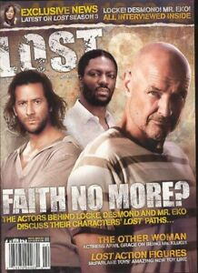LOST The Official Magazine #8 Newsstand Edition Locke, Damon & Eko Cover