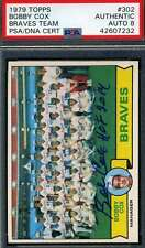 Bobby Cox PSA DNA Coa Autograph 1979 Topps Braves Hand Signed