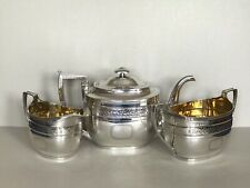 More details for antique george iii scottish silver tea set - edinburgh 1808 - 984g