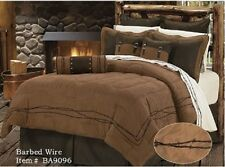 Barbed Wire Western 5 Pc Super King Comforter Bedding Set - Ranch Southwestern