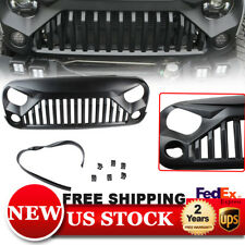 Black Grille Gladiator Front Matte Angry Bird Grill for Jeep JK wrangler 2007-17